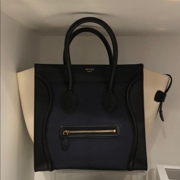 Celine Bags   Mini Luggage Tri Color Bag   Poshmark d879216104